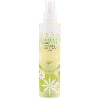 Pacifica, Tahitian Gardenia Perfumed Hair & Body Mist, 6 fl oz (177 ml)