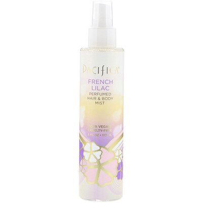 Купить Pacifica French Lilac Perfumed Hair & Body Mist, 6 fl oz (177 ml)