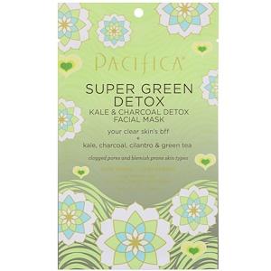 Пасифика, Super Green Detox, Kale & Charcoal Detox Facial Mask, 1 Mask, 0.67 fl oz (20 ml) отзывы