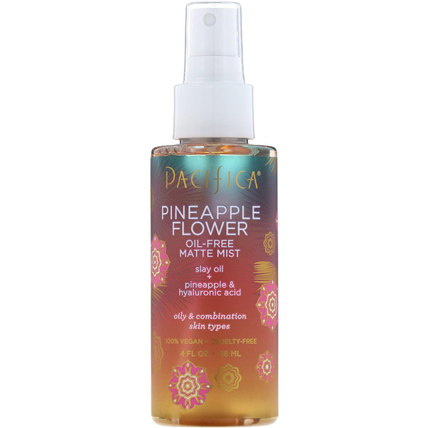 Pacifica, Pineapple Flower, Oil-Free Matte Mist, 4 fl oz (118 ml)