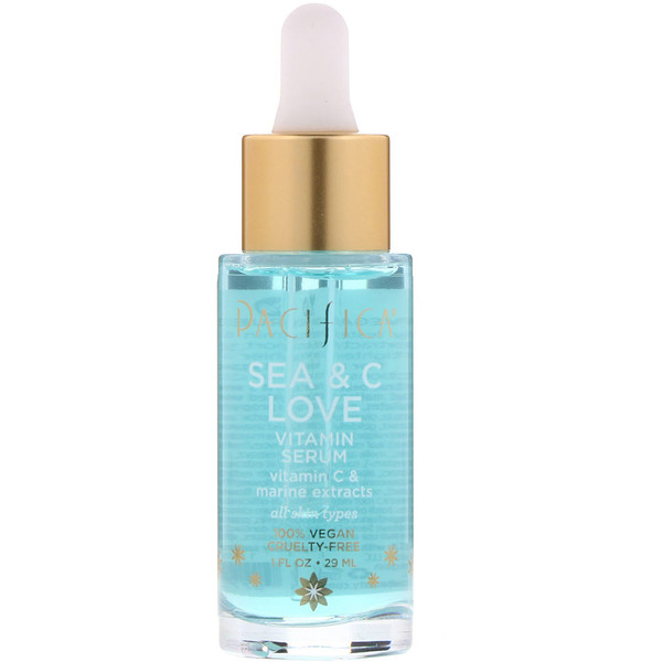 Pacifica, Sea & C Love, Vitamin C Serum, 1 fl oz (29 ml)