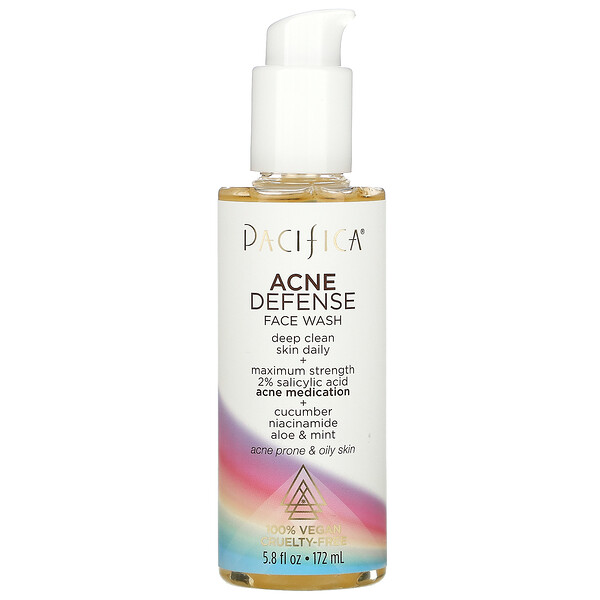 Acne Defense Face Wash, 5.8 fl oz (172 ml)