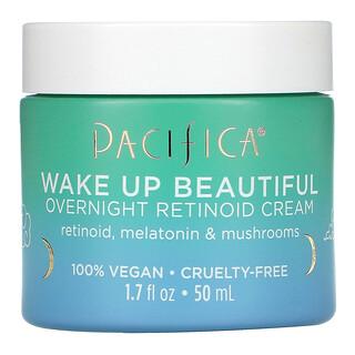 Pacifica, Wake Up Beautiful, Overnight Retinoid Cream, 1.7 fl oz (50 ml)