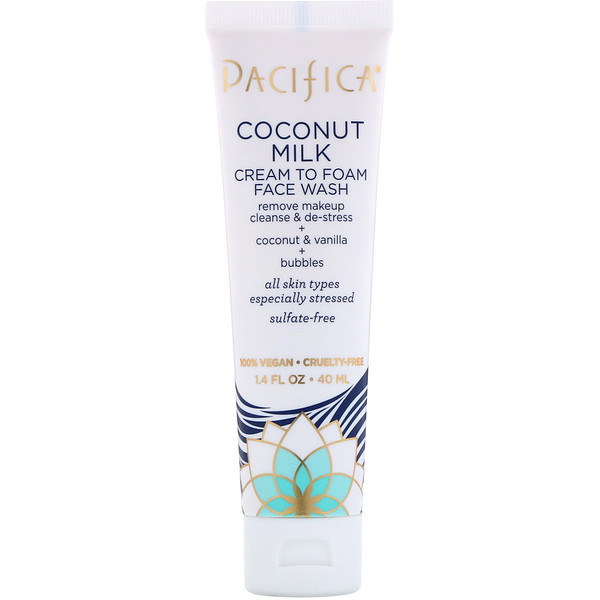Pacifica, Coconut Milk, Cream to Foam Face Wash, 1.4 fl oz (40 ml)