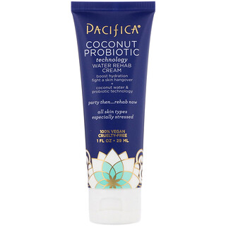 Pacifica, Coconut Probiotic, Technology Water Rehab Cream, 1 fl oz (29 ml)
