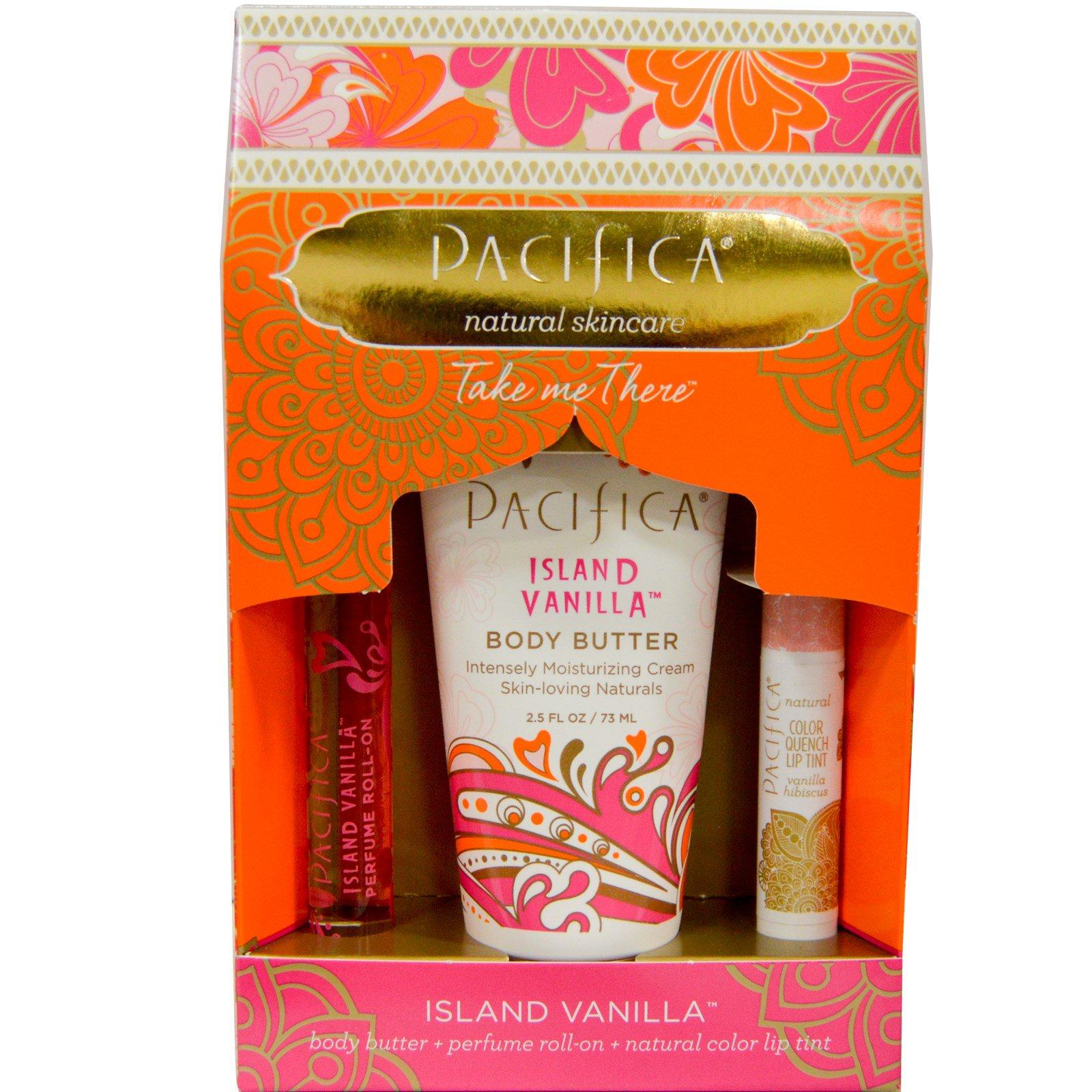 """Pacifica, Набор """"Унеситесь вдаль"""" с  островной ванилью, набор из 3 частей"""