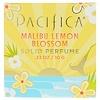 Pacifica, Solid Perfume, Malibu Lemon Blossom, .33 oz (10 g) (Discontinued Item)