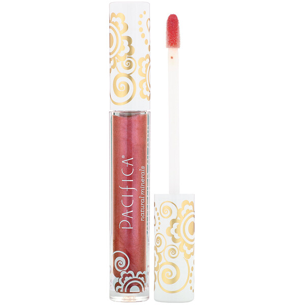 Pacifica, Enlightened Gloss, Nourishing Mineral Lip Shine, Ravish, 0.10 oz (2.8 g) (Discontinued Item)