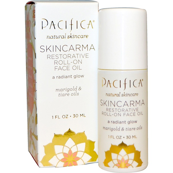 Pacifica, Skincarma Restorative Roll-On Face Oil, 1 fl oz (30 ml) (Discontinued Item)
