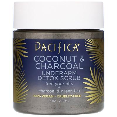 Купить Pacifica Кокос и древесный уголь, скраб для подмышек с эффектом детоксикации, 205мл (7унций)