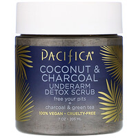 Pacifica, Coconut & Charcoal, Underarm Detox Scrub, 7 oz (205 ml)
