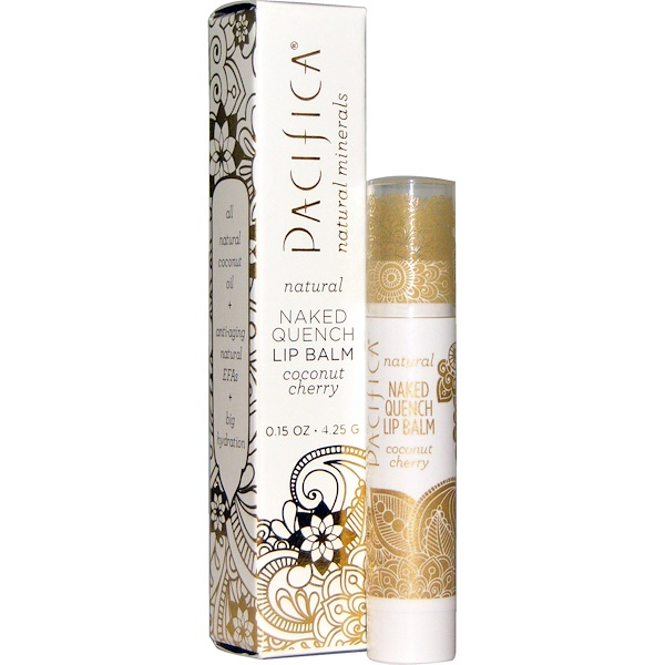Pacifica, Naked Quench Lip Balm, Coconut Cherry, 0.15 oz (4.25 g) (Discontinued Item)