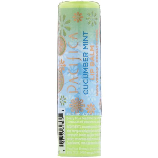 Pacifica, Lip Balm, Cucumber Mint, 0.15 oz (4.2 g) (Discontinued Item)