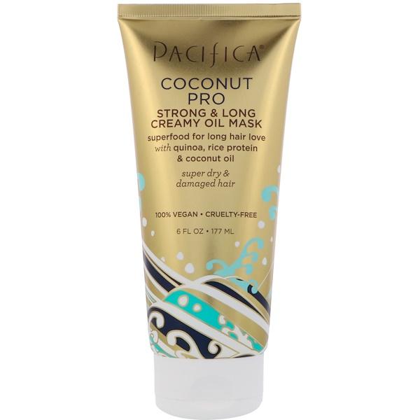 Pacifica, Coconut Pro - Masque à l'huile crémeuse - Force & Longueur - 177 ml (6 fl oz.)