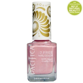 Pacifica, 7 Free Nail Color, Pink Crush, 0.45 fl oz (13.3 ml)