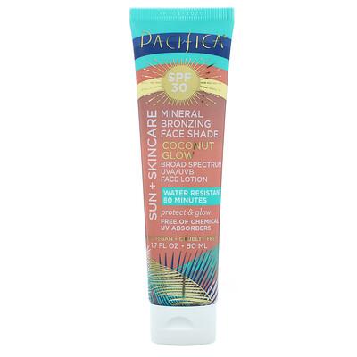 Pacifica Sun + Skincare, Mineral Bronzing Face Shade, SPF 30, Coconut Glow, 1.7 fl oz (50 ml)