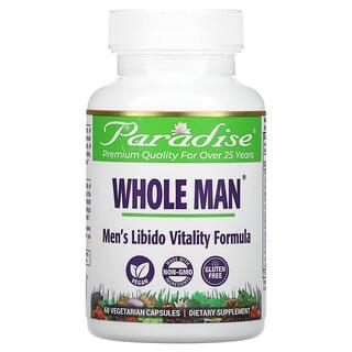 Paradise Herbs, Whole Man، تركيبة لتعزيز الرغبة الجنسية، 60 كبسولة نباتية