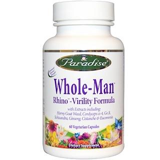 Paradise Herbs, Whole-Man, Rhino - Vitality Formula, 60 Veggie Caps