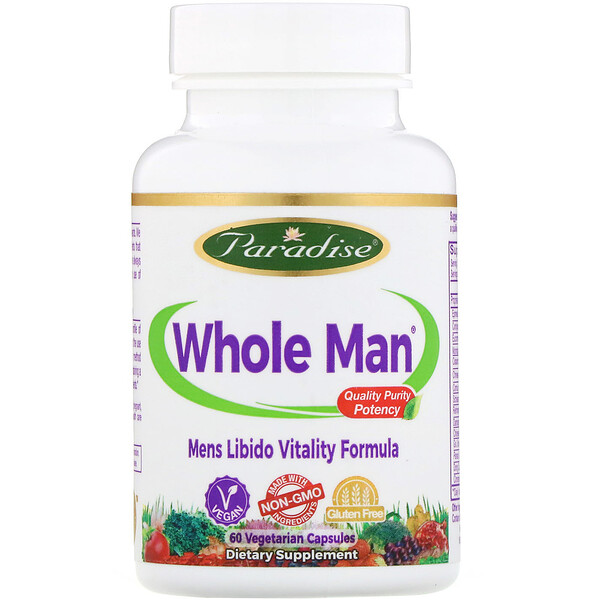 Whole-Man, Mens Libido  Vitality Formula, 60 Vegetarian Capsules