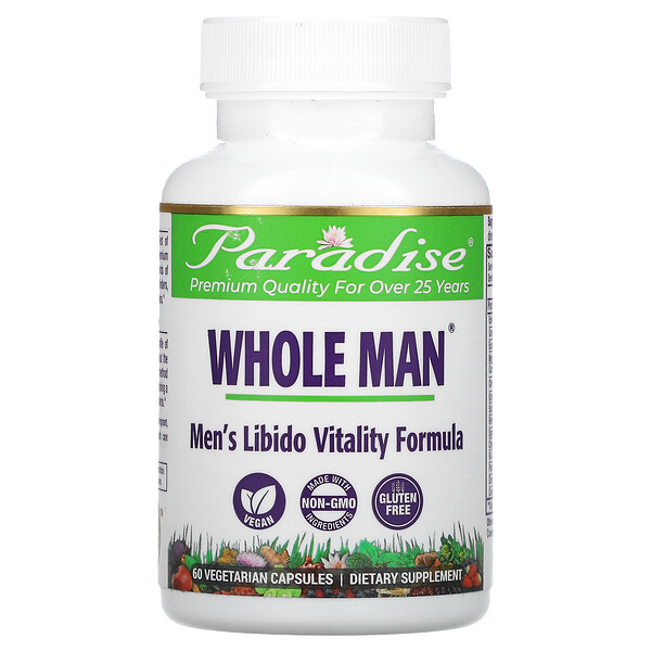 Whole Man, Men's Libido Vitality Formula, 60 Vegetarian Capsules