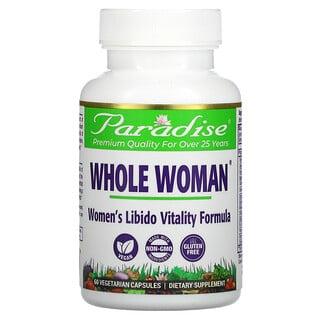 Paradise Herbs, Whole Woman, Women's Libido Vitality Formula, 60 Vegetarian Capsules