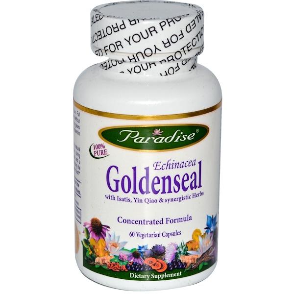 Paradise Herbs, Echinacea Goldenseal, 60 Veggie Caps (Discontinued Item)
