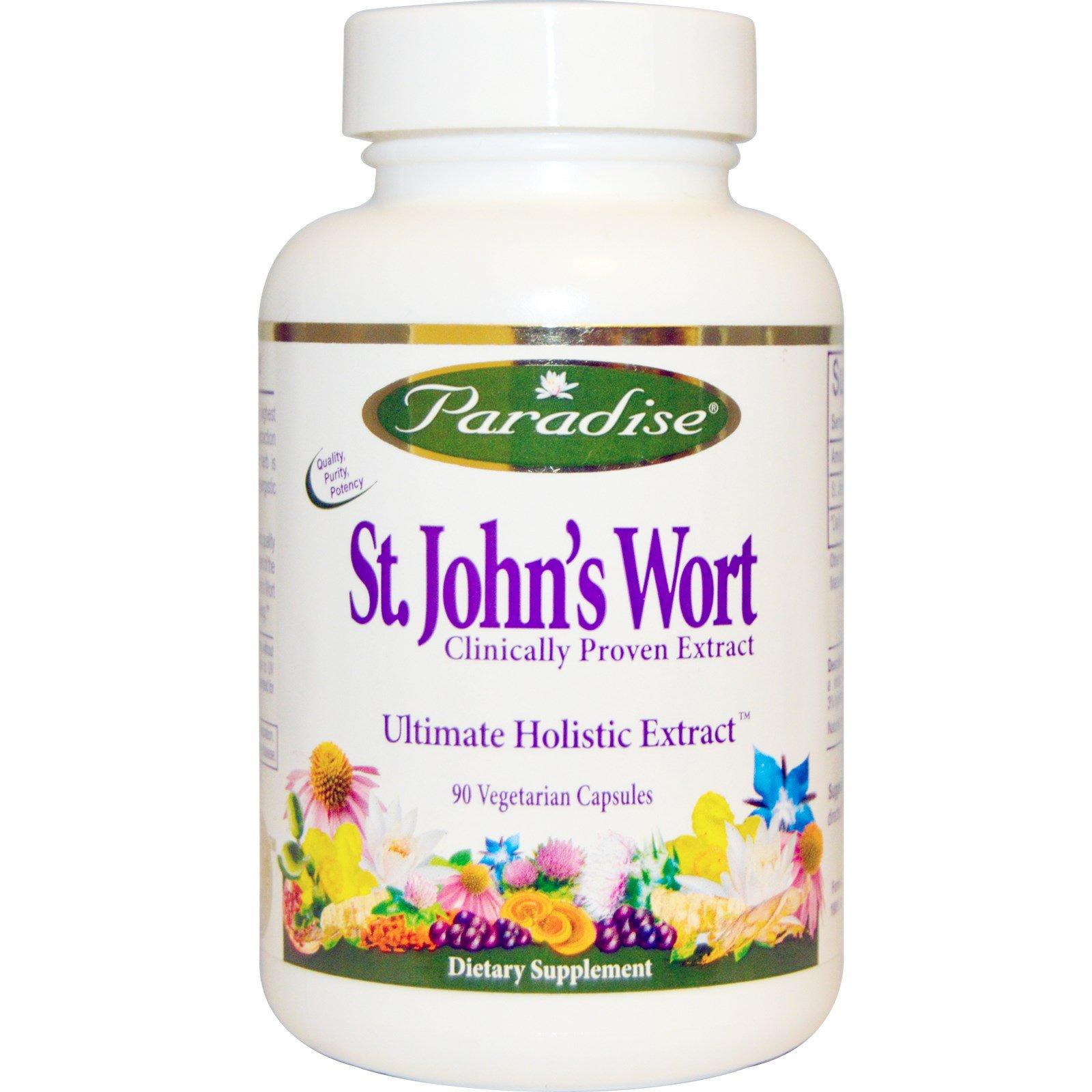 Paradise Herbs, St. John\'s Wort, 90 Veggie Caps - iHerb.com