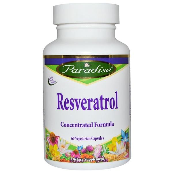 Paradise Herbs, Resveratrol, 60 Veggie Caps