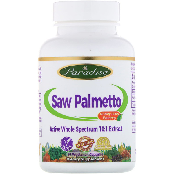 Paradise Herbs, Saw Palmetto, 60 Vegetarian Capsules (Discontinued Item)
