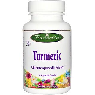 Paradise Herbs, Turmeric, 60 Veggie Caps
