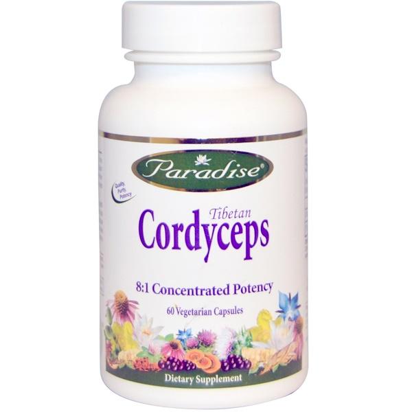 Paradise Herbs, Tibetan Cordyceps, 60 Veggie Caps