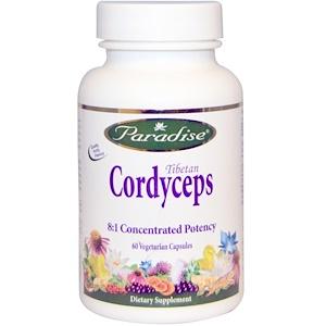 Paradise Herbs, Тибетский кордицепс, 60 овощных капсул