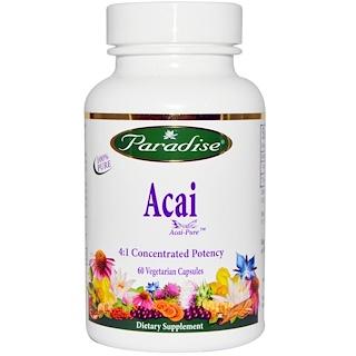 Paradise Herbs, Acai, 60 Veggie Caps