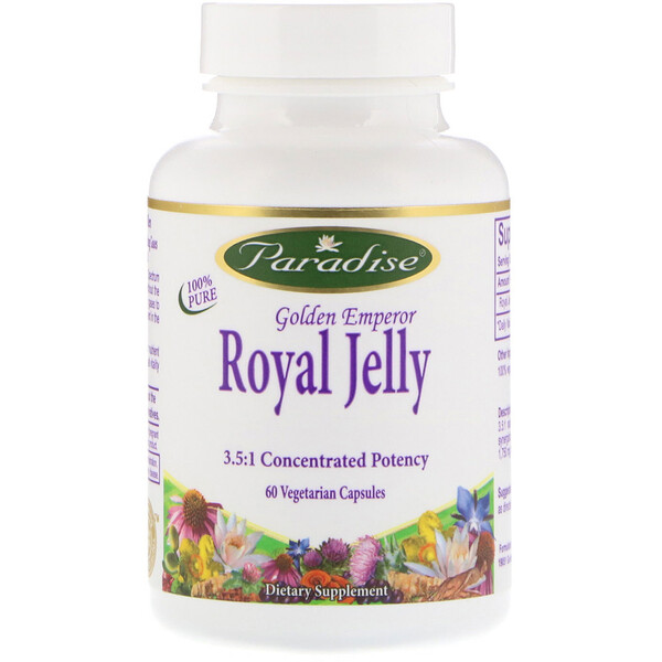 Paradise Herbs, Golden Emperor Royal Jelly, 60 Vegetarian Capsules