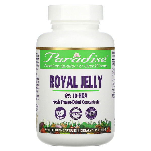 Paradise Herbs, Golden Emperor Royal Jelly, 60 Vegetarian Capsules