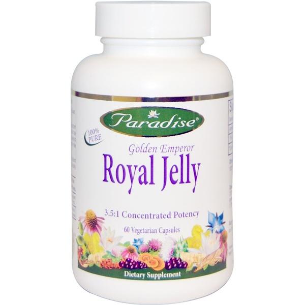 Paradise Herbs, Golden Emperor Royal Jelly, 60 Veggie Caps