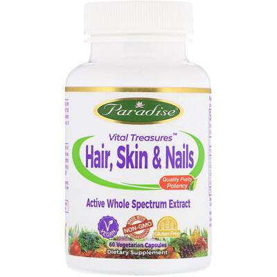Vital Treasures для волос, кожи и ногтей, 60 вегетарианских капсул