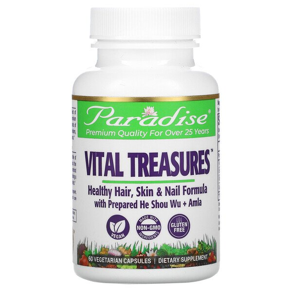 Vital Treasures, Hair, Skin & Nails, 60 Vegetarian Capsules