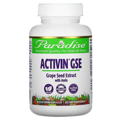 Paradise Herbs, ActiVin 葡萄籽提取物,含余甘子,90 粒素食膠囊