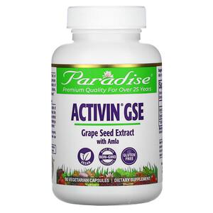 Парадайз Хербс, ActiVin Grape Seed Extract with Amla, 90 Vegetarian capsules отзывы покупателей