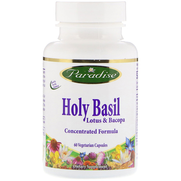 Paradise Herbs, Holy Basil, Lotus & Bacopa, 60 Vegetable Capsules