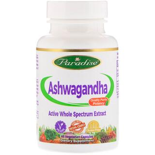 Paradise Herbs, Органика, Ашвагандха, 60 вегетарианских капсул