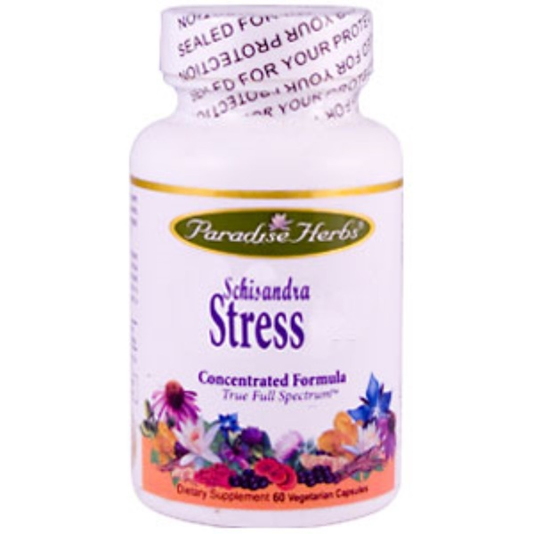 Paradise Herbs, Schisandra Stress Formula, 60 Vcaps (Discontinued Item)
