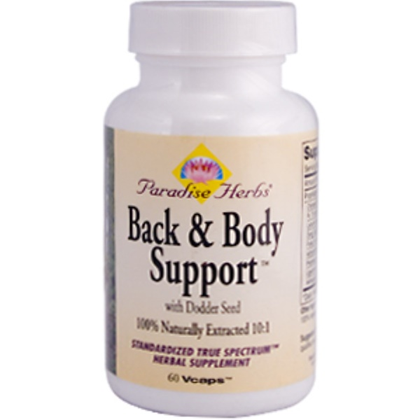 Paradise Herbs, Back & Body Support with Dodder Seed, 60 Vcaps (Discontinued Item)