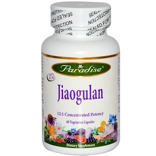Paradise Herbs, ジアオグラン、60ベジキャップ