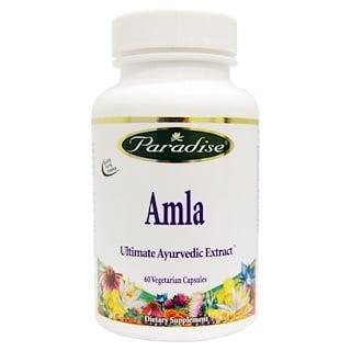 Paradise Herbs, Амла, 60 вегетарианских капсул
