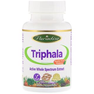 Paradise Herbs, Organics, Triphala, 60 Comprimidos Vegetarianos