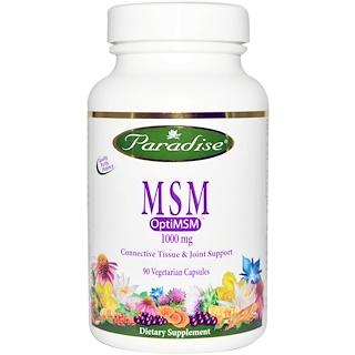 Paradise Herbs, MSM, OptiMSM, 1000 mg, 90 Veggie Caps