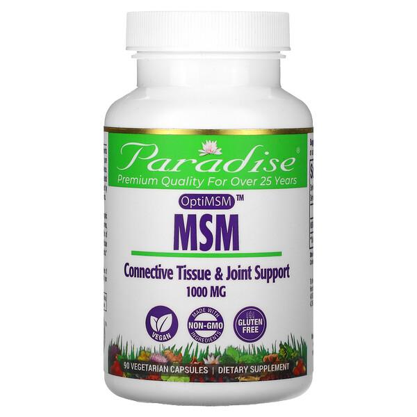MSM with OptiMSM, 1,000 mg, 90 Vegetarian Capsules