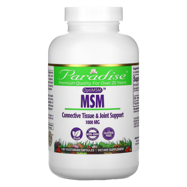 MSM, 1,000 mg, 180 Vegetarian Capsules